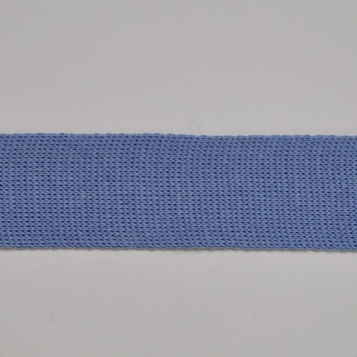 Sky Blue 6 cm Knitted Rib tape by the metre 100% Cotton